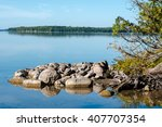 Lake On Manitoulin Island In...