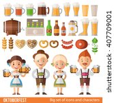 vector set of characters and... | Shutterstock .eps vector #407709001