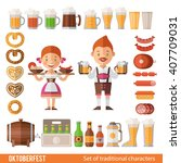 vector set of characters and... | Shutterstock .eps vector #407709031