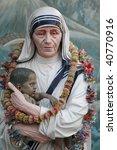 Small photo of Mother Teresa statue in Prem Dan house, Kolkata