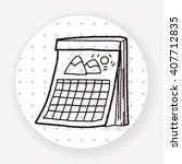 calendar doodle | Shutterstock .eps vector #407712835