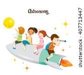 Children Sitting On Rocket ...