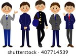 student smile uniform boys... | Shutterstock . vector #407714539