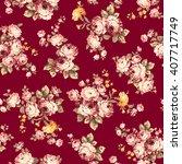 rose flower pattern  | Shutterstock .eps vector #407717749