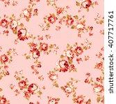 rose flower pattern  | Shutterstock .eps vector #407717761