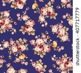 rose flower pattern  | Shutterstock .eps vector #407717779