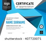 modern certificate with... | Shutterstock .eps vector #407720071