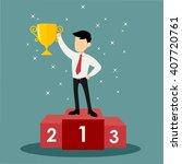 success businessman character... | Shutterstock .eps vector #407720761