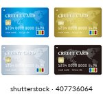 credit card set vector  | Shutterstock .eps vector #407736064