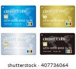 credit card set vector  | Shutterstock .eps vector #407736064