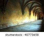Medieval Corridor In The...