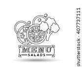 menu delicious food  design  | Shutterstock .eps vector #407737111