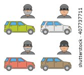 cool set icons car theft.... | Shutterstock . vector #407737711