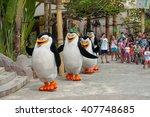 sentosa universal studios ... | Shutterstock . vector #407748685