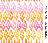 pink and yellow  watercolor... | Shutterstock . vector #407753461