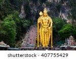 Batu Caves Statue And Entrance...