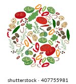 round template with different... | Shutterstock .eps vector #407755981