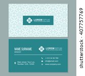 visiting card  business card... | Shutterstock .eps vector #407757769