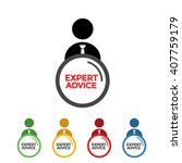 expert advice vector colors | Shutterstock .eps vector #407759179