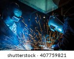 the movement of workers with... | Shutterstock . vector #407759821