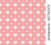 pink seamless heart pattern | Shutterstock .eps vector #407761375