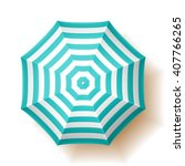beach umbrella  top view.... | Shutterstock .eps vector #407766265
