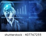 sales analysis and report | Shutterstock . vector #407767255