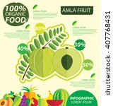 amla fruit. infographic...   Shutterstock .eps vector #407768431