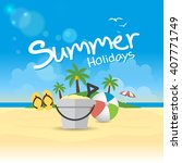 summer holidays background | Shutterstock .eps vector #407771749