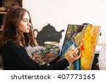 creative pensive  painter... | Shutterstock . vector #407773165
