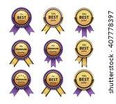 vector set of top quality... | Shutterstock .eps vector #407778397
