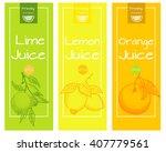 lemon  lime and orange fresh... | Shutterstock .eps vector #407779561