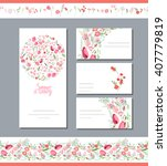 floral spring templates with... | Shutterstock .eps vector #407779819