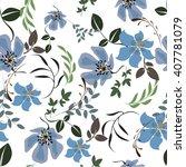 vector seamless pattern flower... | Shutterstock .eps vector #407781079