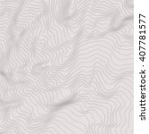 vector topography map with gray ... | Shutterstock .eps vector #407781577