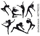 dancer silhouette vector images ... | Shutterstock .eps vector #407782231