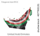 uae united arab emirates map in ... | Shutterstock .eps vector #407783131