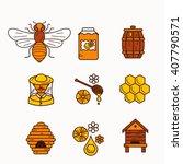 Vector Illustration Beekeeping...