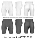 men's cycling shorts. fully... | Shutterstock .eps vector #407790991