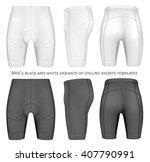 men's cycling shorts. fully... | Shutterstock .eps vector #407790991