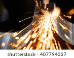 drill with diamond tipped... | Shutterstock . vector #407794237