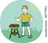 it's barbecue time  | Shutterstock . vector #4077991