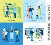pressman and journalist concept ...   Shutterstock .eps vector #407801497