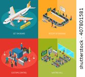 airport 2x2 images presenting... | Shutterstock .eps vector #407801581