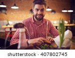 pleasure of eating | Shutterstock . vector #407802745