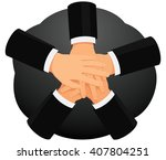 business people are stacking... | Shutterstock .eps vector #407804251