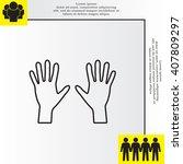 hand line icon vector   Shutterstock .eps vector #407809297