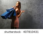 young pretty woman with... | Shutterstock . vector #407810431