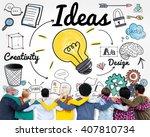 ideas idea vision design plan... | Shutterstock . vector #407810734