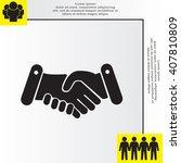 handshake icon  | Shutterstock .eps vector #407810809